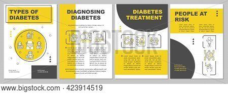 Types Of Diabetes Brochure Template. Diagnosing Diseases. Flyer, Booklet, Leaflet Print, Cover Desig
