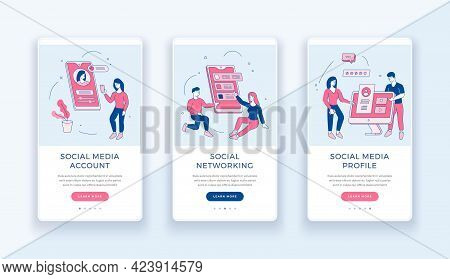 Creation Of Social Web Accounts. Communication And Business In Social Networks And Groups. Male And