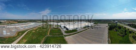 Woodstock, Ontario/canada- May 25: An Aerial Panorama Of Toyota Plant In Woodstock, Ontario, Canada