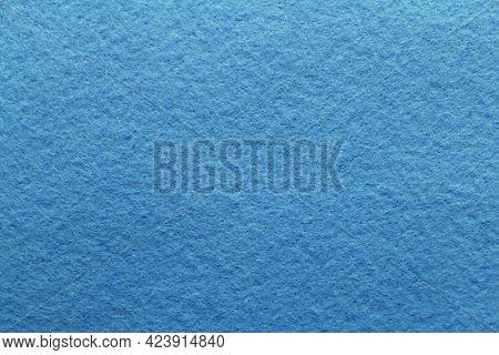 Soft Blue Felt Fabric. Felt Texture For Background
