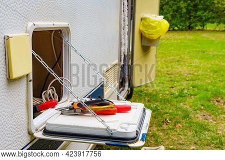 Tools For Repair Caravan Motor Home Outdoor.