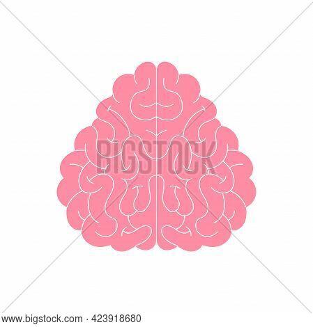 Vector Human Brain Silhouette, Icon. Neuropsychology, Medicine, Creativity, Memory Problems, Dementi