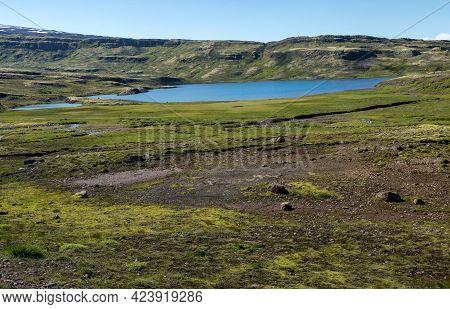 Beautiful Icelandic Landscape. Wonderful Image Of Amazing Nature Landscape. Iceland Europe