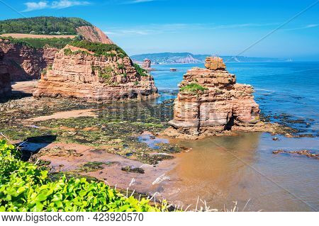 Ladram Bay In Dorset, United Kingdom, Jurassic Coast