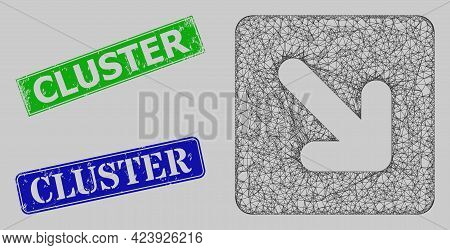 Carcass Network Right Down Direction Model, And Cluster Blue And Green Rectangle Rubber Seals. Frame