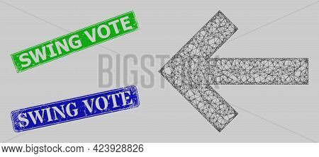 Carcass Crossing Mesh Left Direction Arrow Model, And Swing Vote Blue And Green Rectangular Rubber S