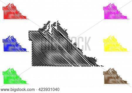 Thurston County, State Of Washington (u.s. County, United States Of America, Usa, U.s., Us) Map Vect
