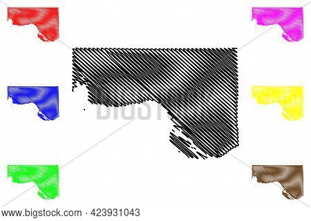 Wahkiakum County, State Of Washington (u.s. County, United States Of America, Usa, U.s., Us) Map Vec
