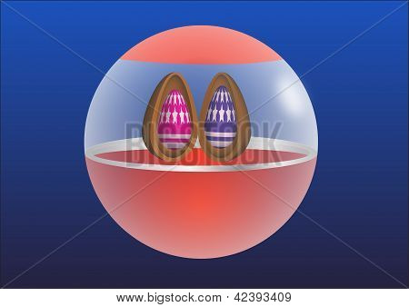 ball with Easter eggs