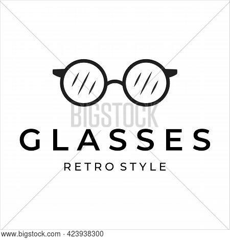 Eyeglass Logo Line Art Minimalist Simple Vector Illustration Design. Spectacles Or Glasses Logo For