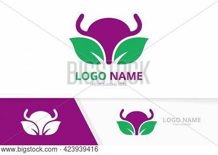 Vector Eco Bladder Logo Combination. Urinary Tract Logotype Design Template.