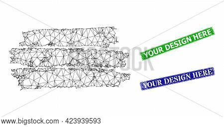 Triangular Charcoal Texture Template Model, And Your Design Here Blue And Green Rectangular Grunge S