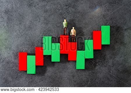 Business investment concept picture - People sitting above digital currency