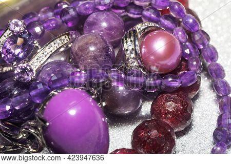 Jewelry With Purple Stones