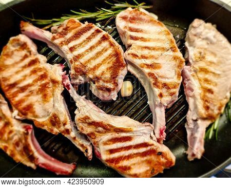 Marinated French Racks Iberico Carree For Barbecue