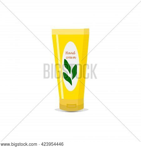 A Tube Of Hand Cream. Organic Natural Cosmetics For Care. Vector Illustration For Beauty Salons, Cos