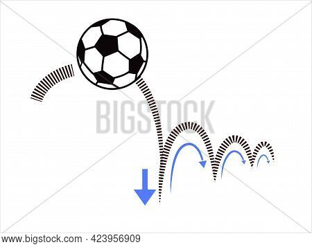 Physics. Newton's Law Of Action And Impulse. Action-reaction Law. Ball Bouncing