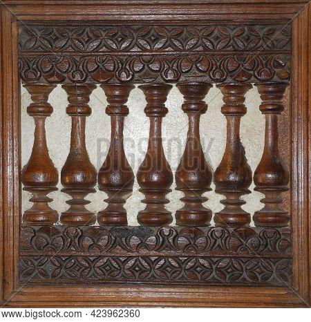 National Kerala Wood Carving Craft. Kochi, Kerala, India