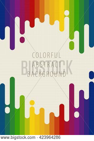 Abstract Background Pattern. Vertical Stripes Rainbow Gradient Retro Colors. Template Design For Pub