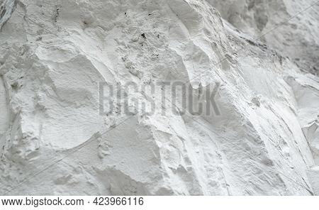 Chalk Mining. Limestone Quarry. Chalk Hills. Chalk Surface. White Stone Texture Background Wallpaper