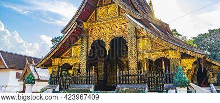 Wat Xieng Thong Temple Of Golden City Luang Prabang Laos.