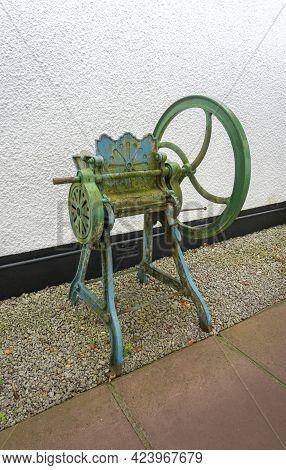 Gretna Green, Scotland, Uk, August 2020 - Vintage Cast Iron Farming Equipment