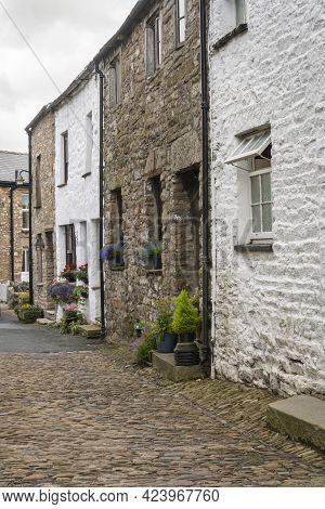 Street View Of The Village Of Dent In The Yorkshire Dales, Uk
