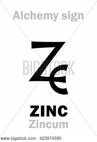 Alchemy Alphabet: Zinc (zincum), Also: Tutia (zinc Oxide), Cadmia/galmea (ore Of Zinc), Lapis Calami