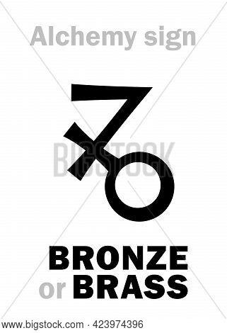 Alchemy Alphabet: Bronze / Brass (aes; Auricalcum, Orichalcum), Metal Alloy: 1) Yellowish-brown Allo