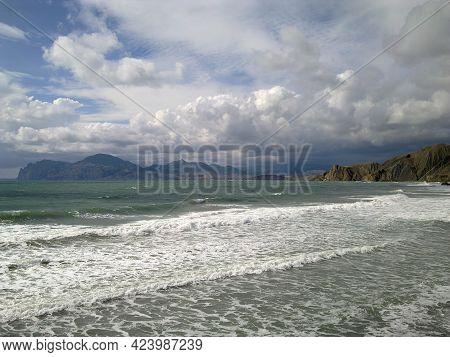 Seascape. Crimea. The Extinct Volcano Kara-dag. Sea And Mountains