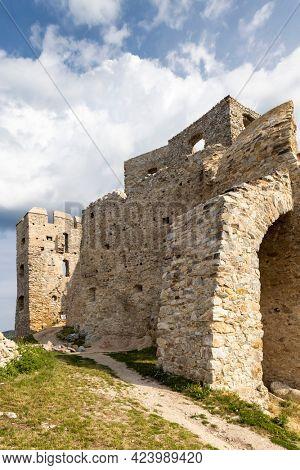 Ruins of Hrusov Castle, Zlate Moravce District, Nitra Region, Slovakia