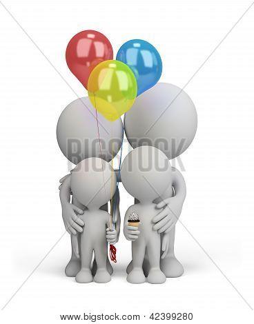 3D Person - Happy Family
