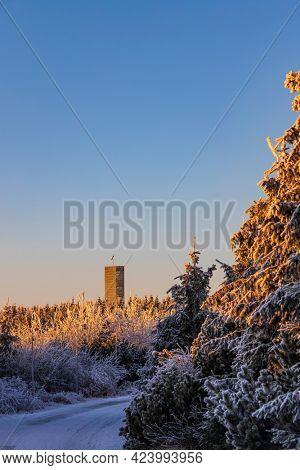 Lookout tower, Velka Destna, Orlicke mountains, Eastern Bohemia, Czech Republic