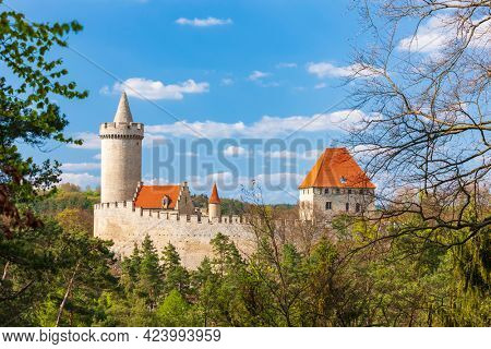Kokorin castle near Melnik, Central Bohemia, Czech Republic