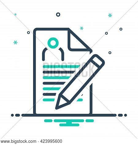 Mix Icon For Enrollment Nomination Recruitment Registration  Agreement
