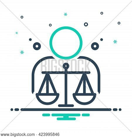 Mix Icon For Ethical Moral Ethic Virtuous Righteous Judgement