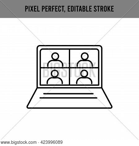 People Connecting Together, Learning Or Meeting Online With Teleconference, Video Conference Remote
