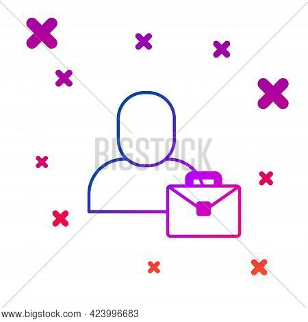 Color Freelancer Icon Isolated On White Background. Freelancer Man Working On Laptop At His House. O