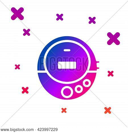 Color Music Cd Player Icon Isolated On White Background. Portable Music Device. Gradient Random Dyna