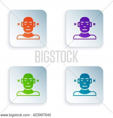 Color Deafness Icon Isolated On White Background. Deaf Symbol. Hearing Impairment. Set Colorful Icon