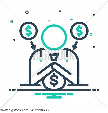 Mix Icon For Fundraiser Charity Donate Benefaction Pittance