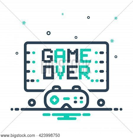Mix Icon For Gameover Video Videogame Game Finish Technology Controller