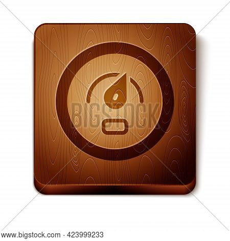Brown Digital Speed Meter Concept Icon Isolated On White Background. Global Network High Speed Conne