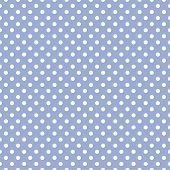 Seamless vector pattern with white polka dots on a sweet pastel blue background. For cards, invitations, wedding, baby shower, albums, backgrounds, arts, decorating or scrapbooks. poster