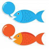 Talking Fish Vector Art Work Design Sticker poster