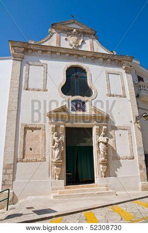 Church of Passione. Conversano. Puglia. Southern Italy. poster