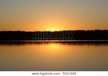 Golden Lake Sunset