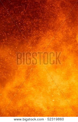 abstract closeup view of an volcano eruption