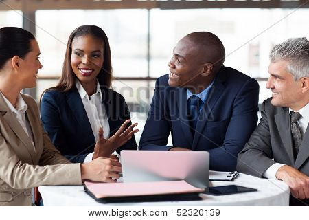 modern business partners having meeting