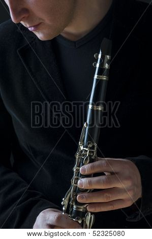 Musician And Clarinet